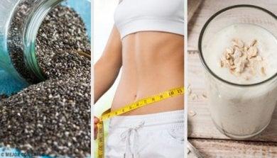 Smoothie dépuratif au chia pour perdre du poids