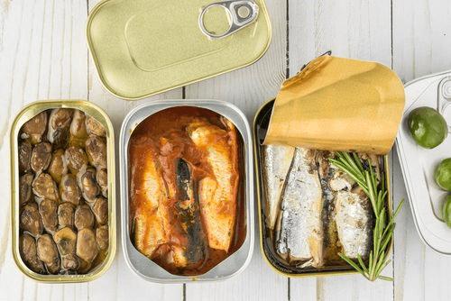 aliments les plus chargés en toxines : aliments en conserve