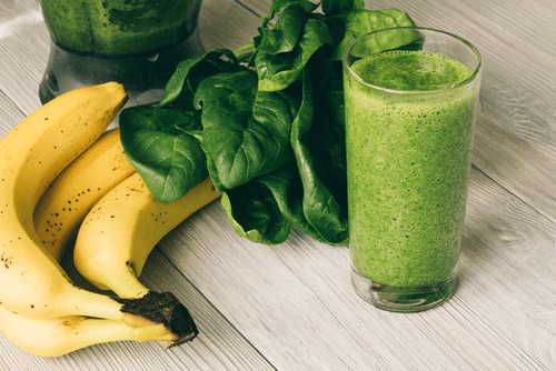 bananes et épinards