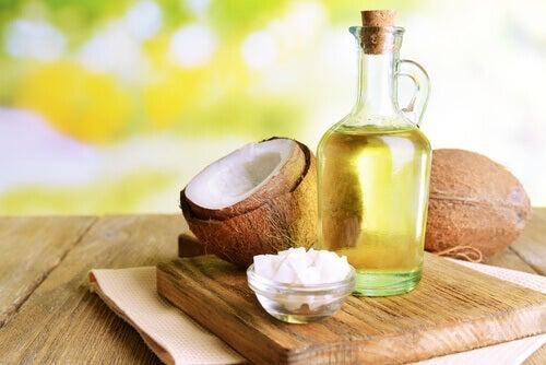 flacon d'huile de coco
