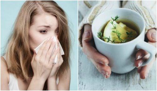 Soulagez la toux et le rhume avec une infusion de thym, de citron et de miel