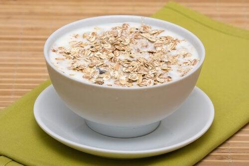 le lait d'avoine protège le système nerveux