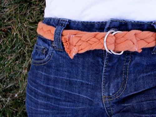 fabriquer des ceintures avec de vielles chemises en coton