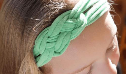 recycler ses chemises en coton et creer des bandeaux pour cheveux
