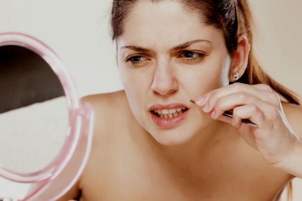 Syndrome de cushing responsable d'un excès de poils.