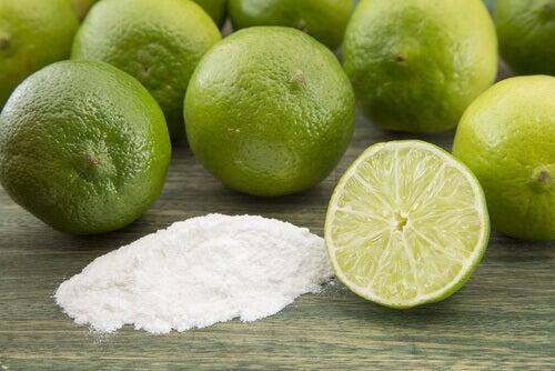 Masques au bicarbonate de soude et citron.
