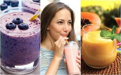 5 smoothies sains pour le petit déjeuner