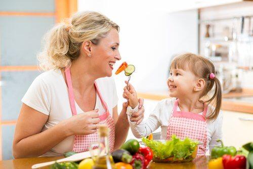 Education des enfants pour combattre une alimentation sélective.