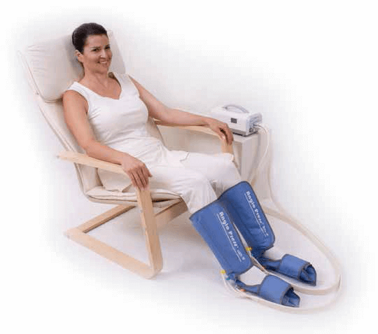 La compression pneumatique contre le syndrome des jambes sans repos
