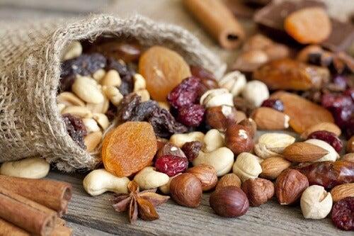 Fruits secs pour un bon niveau d'hémoglobine