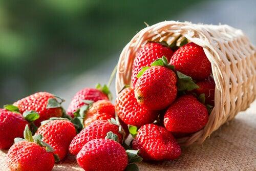 les fraises sont des brûleurs de graisses