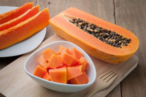 smooties papaye et pruneaux