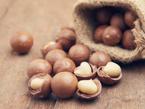 les meilleures graisses : Noix de macadamia