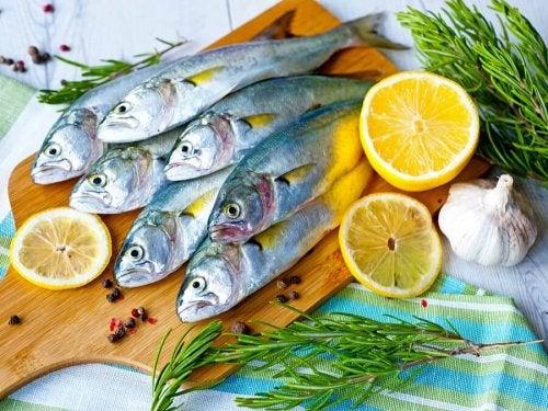 Sardines et poisson gras