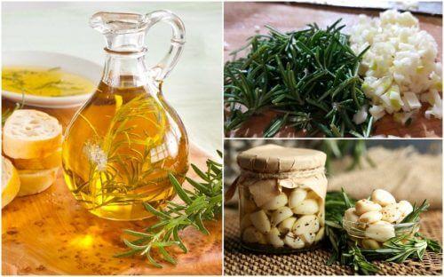 Comment préparer une huile aromatisée au romarin et à l'ail