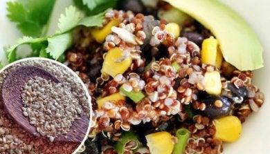 Recettes à base de quinoa.
