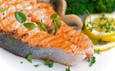 Le saumon.