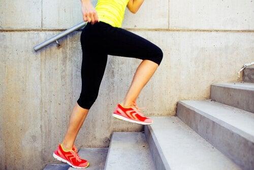 Monter les escaliers pour faire du sport