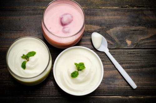 La consommation de yaourt grec