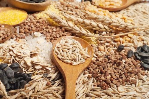Céréales complètes pour une peau saine.