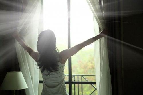 la lumière naturelle pour avoir plus d'énergie