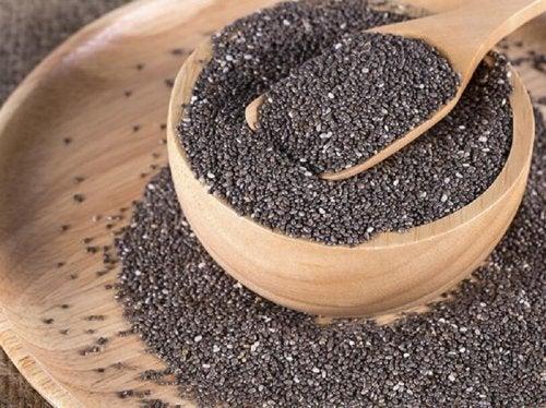 Bol contenant des graines de lin