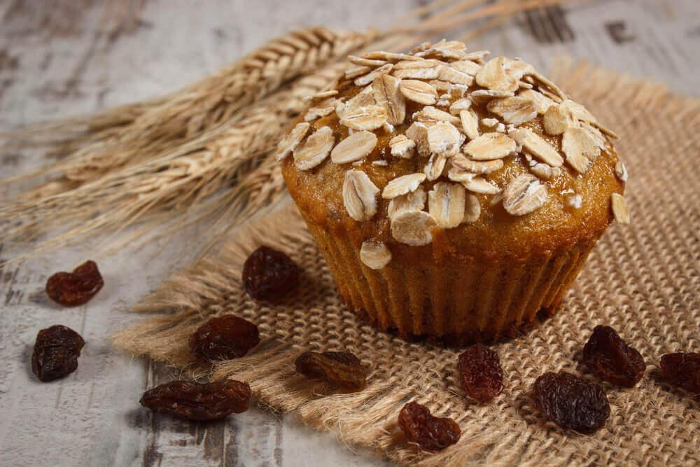 Muffins à l'avoine : nutritifs, sans gluten et sans lactose