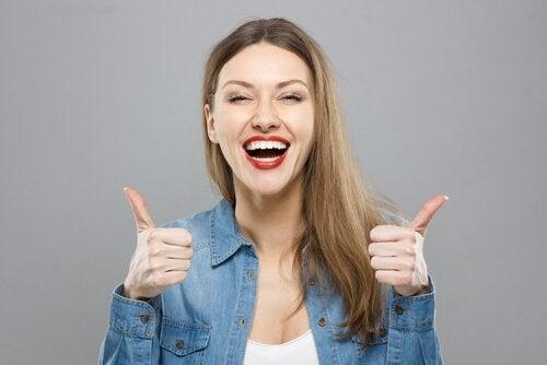 Femme optimiste