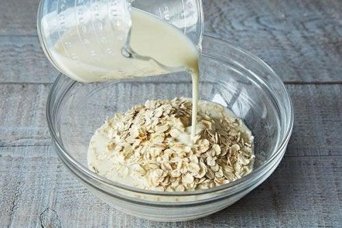 exfoliant au riz et à l'avoine