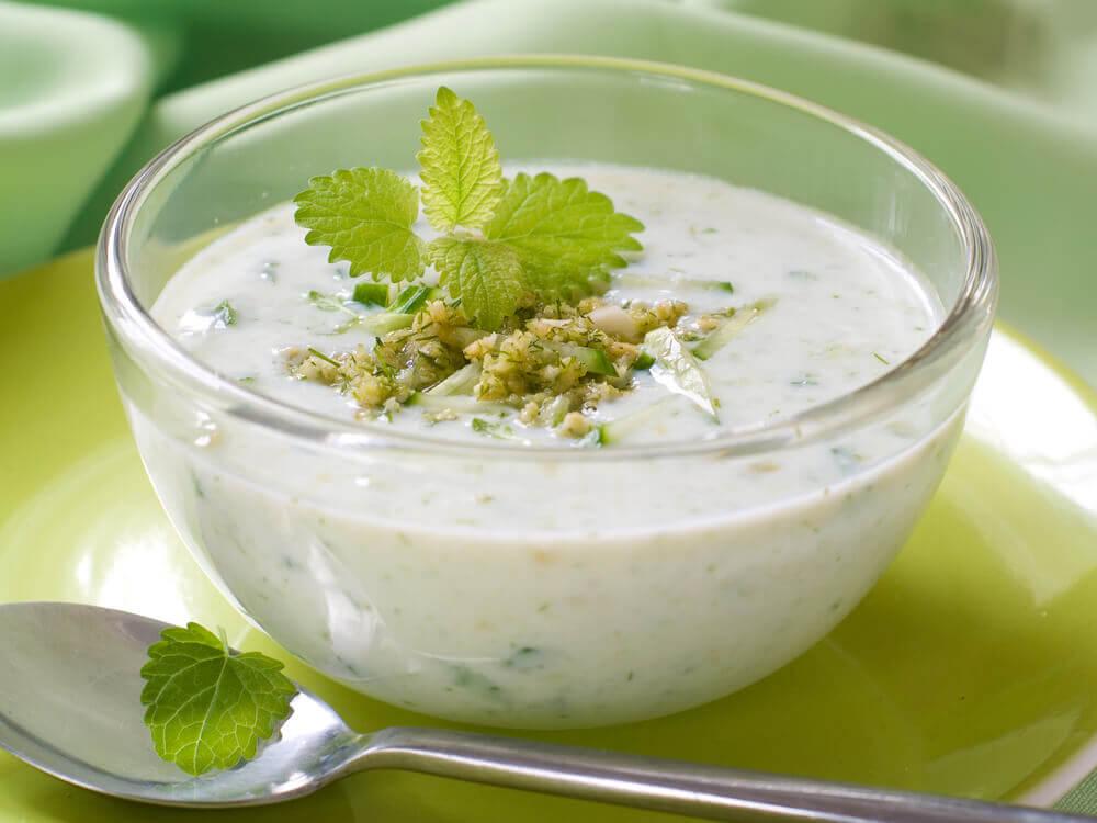 soupe menthe concombre