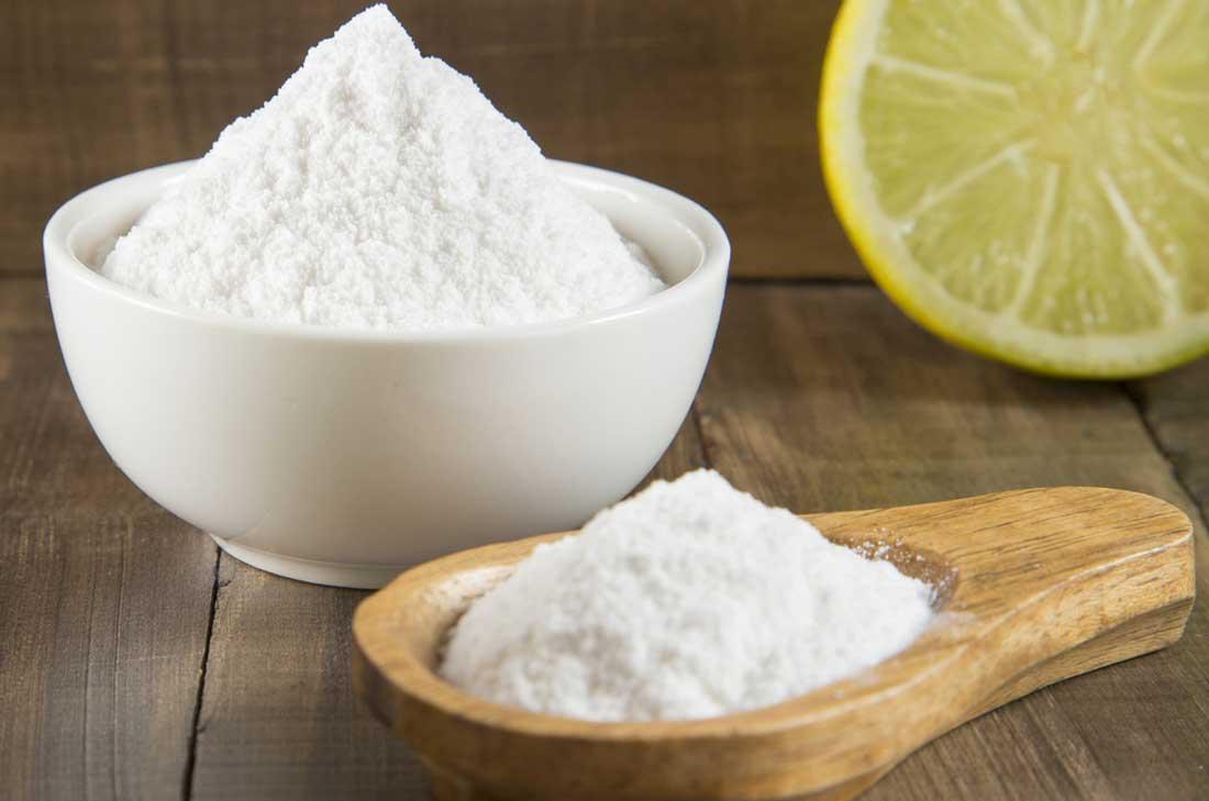 bicarbonate et citron