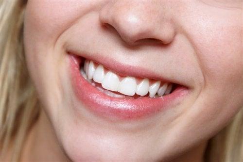 Zoom sur la dentition d'une femme