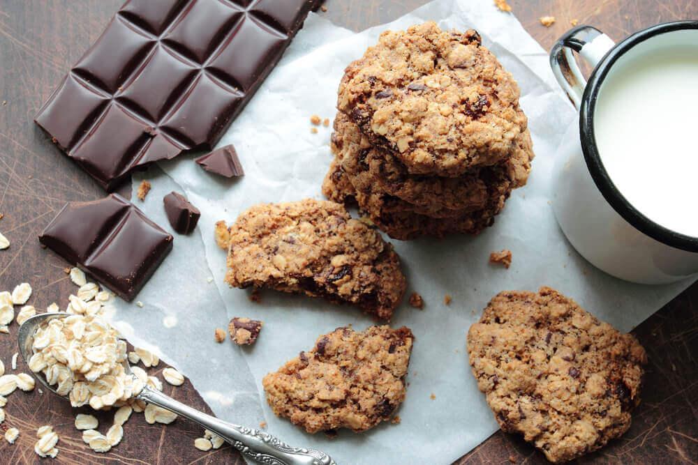 gâteaux aux flocons d'avoine et au chocolat
