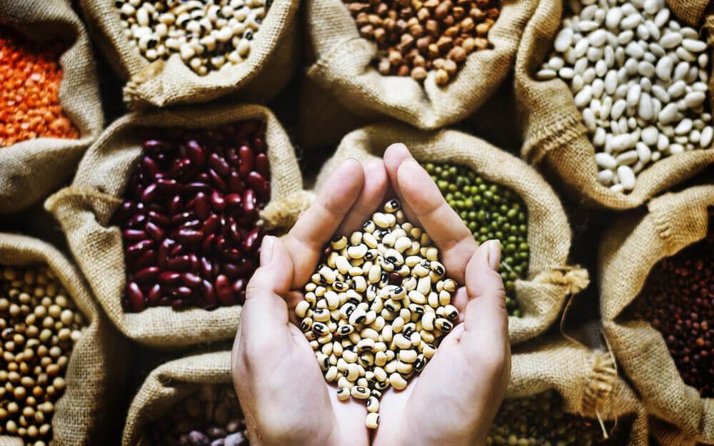 Les grains entiers sont pleins de fibres.