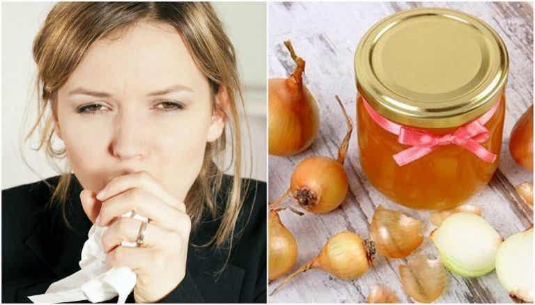 Préparation au miel et à l'oignon pour calmer la toux