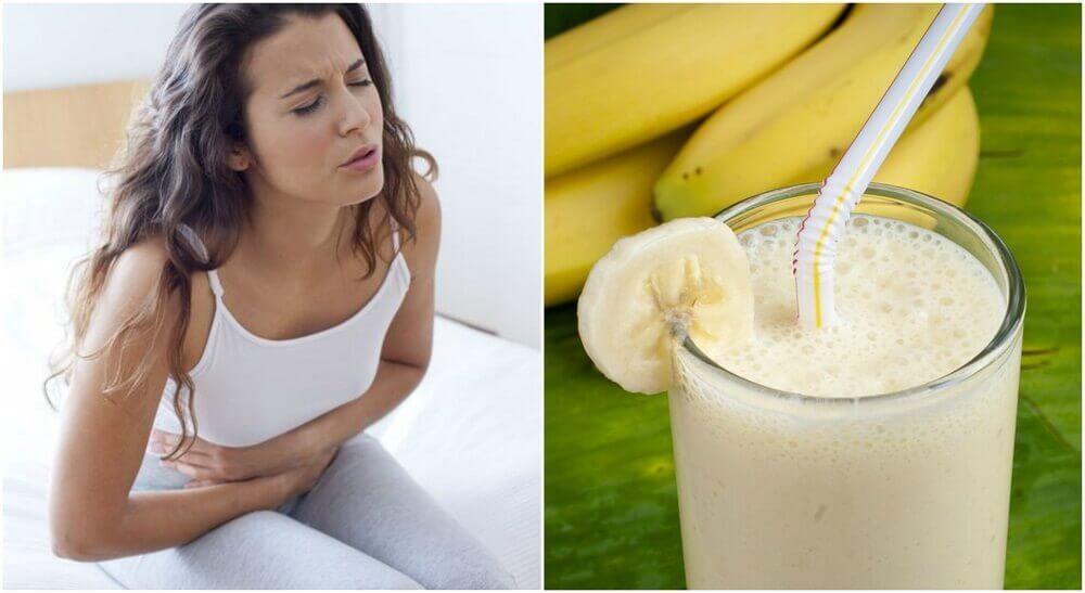 Smoothie aux pommes de terre et aux bananes pour soulager les ulcères de l'estomac