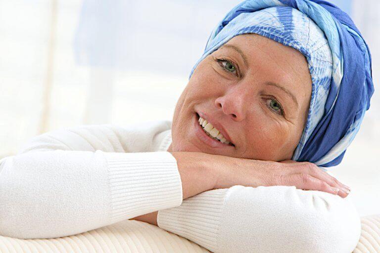 Femme faisant une chimiothérapie