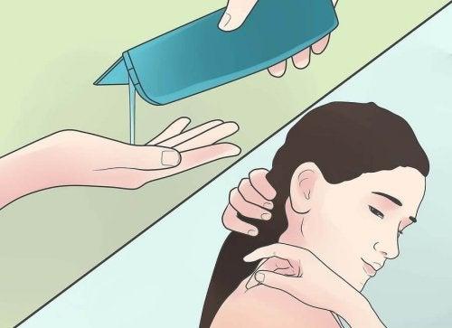 Shampooing naturel contre la chute des cheveux.