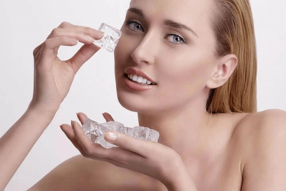 Glace pour refermer les pores ouverts