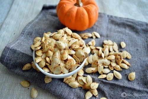 Les graines aux bienfaits pour la santé, graines de courge.