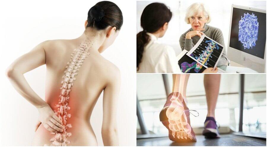 ostéoporose qui explique la douleur dans les omoplates