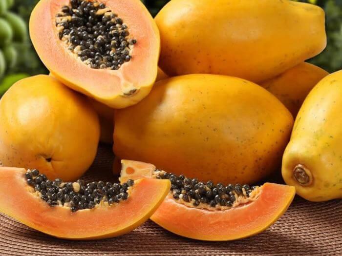 La papaye pour la rétention de liquide.