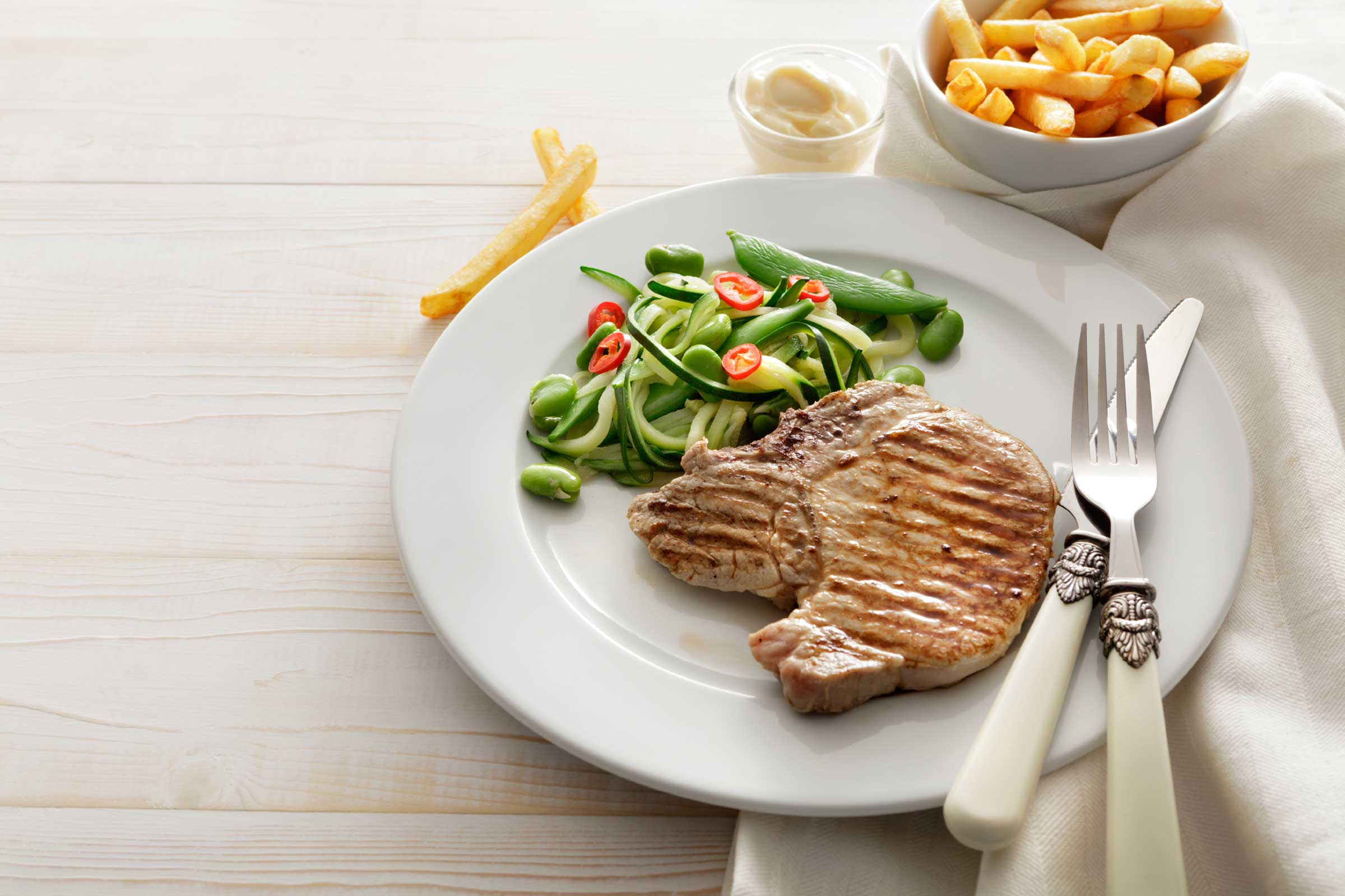 plat sain avec viande et légumes