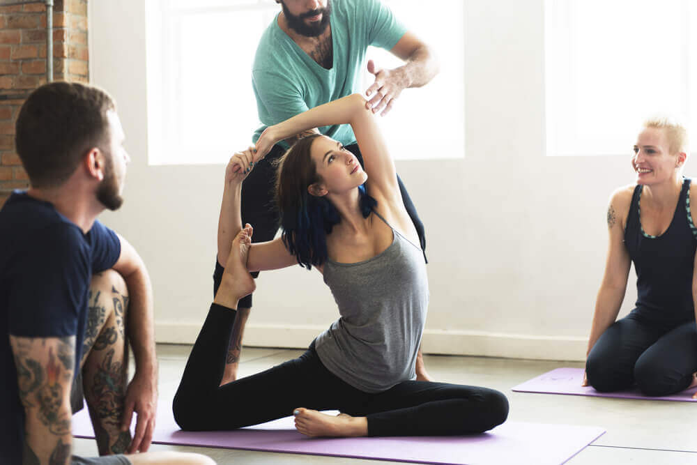 Posture de yoga contre la dépression.