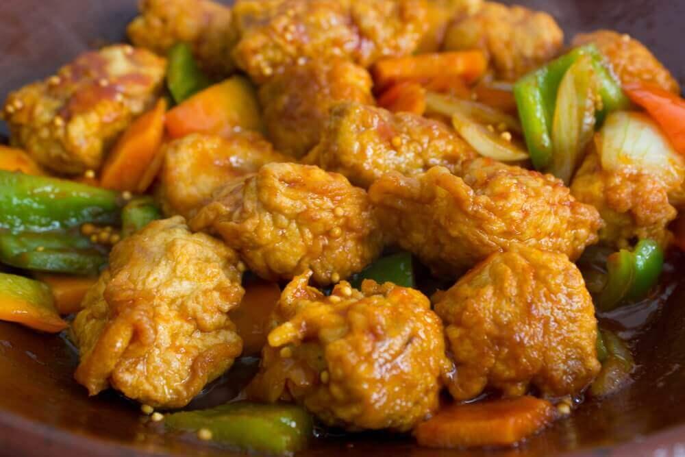 poulet aigre-doux aux légumes
