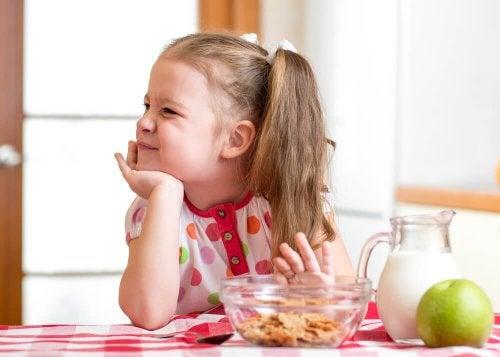 Remèdes contre le peu d'appétit chez l'enfant.