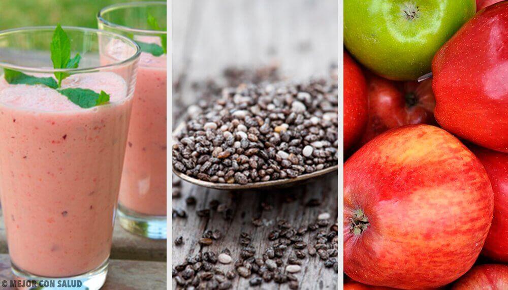 Un smoothie pruneaux-graines de chia-pomme pour réguler l'intestin
