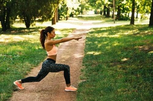 Exercice physique pour contrôler le stress.