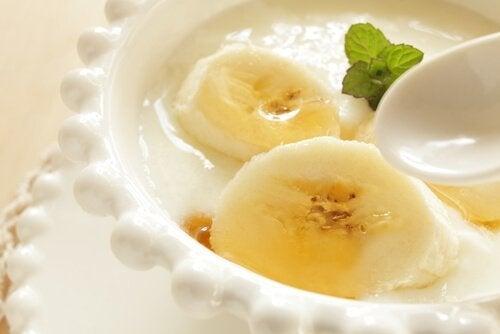 yaourt vegan à la banane