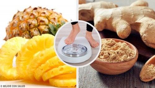 Un smoothie à l'ananas et au gingembre pour perdre du poids